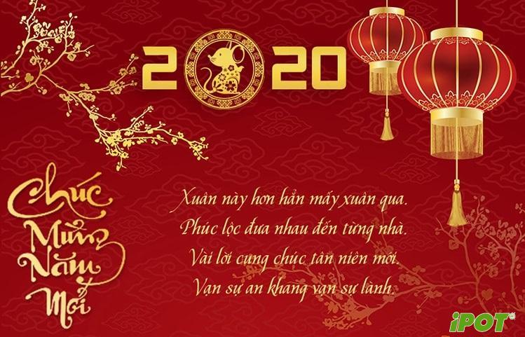 Thư chúc Tết và thông báo lịch Nghỉ Tết 2020