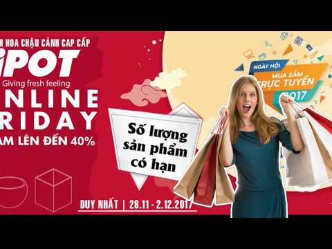 Online Friday – Sale up to 40% Chậu Composite iPOT